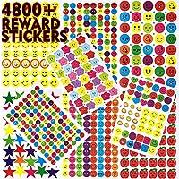 Wenet Pack de Pegatinas de Recompensa para Niños y Profesores de 4800 Stickers Autoadhesivos para Motivar e Incentivar Alumnos