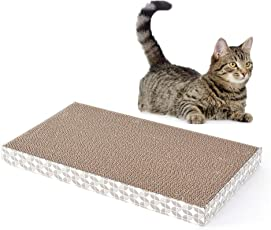 Pets Empire Cat Scratcher Large Wide Scratching Pad Durable Recyclable Cardboard with Catnip-1 Piece