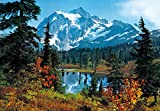 Fototapete MOUNTAIN MORNING 366x254 cm Indian Summer USA Berge See Kanada Sommer
