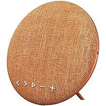 HOIHO Altavoces Bluetooth inalámbrico portátil Bluetooth 4.1,12W, con radio FM, micrófono incorporado, audio Jac 3.5 mm, acoplamiento estéreo para sonido envolvente, para deportes, viajes, ducha, playa, fiesta ( Color : Orange )