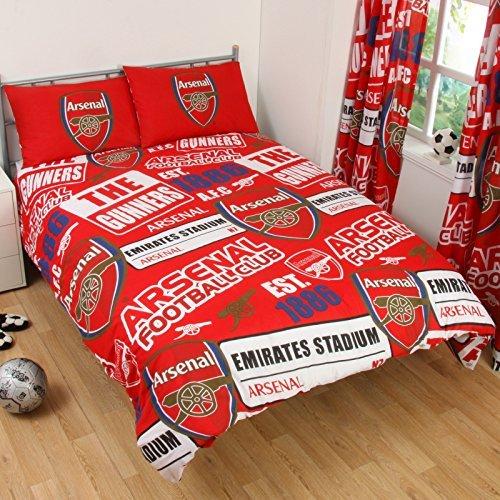 Neue Arsenal FC Bettbezug, doppelt, Rot (Fc-patch Arsenal)