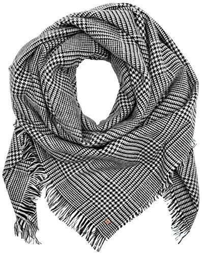 edc by Esprit Accessoires Damen Schal 097CA1Q004, Mehrfarbig (Black 001), One size