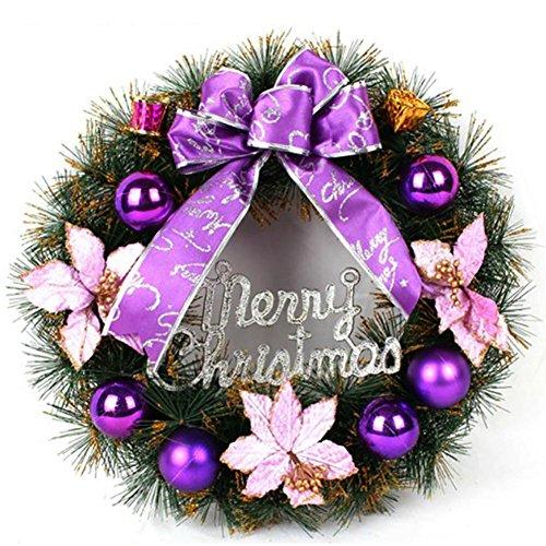 YUYU Accessori albero di Natale di regalo decorativo regalo viola corona (Viola Ornamento Di Vetro)