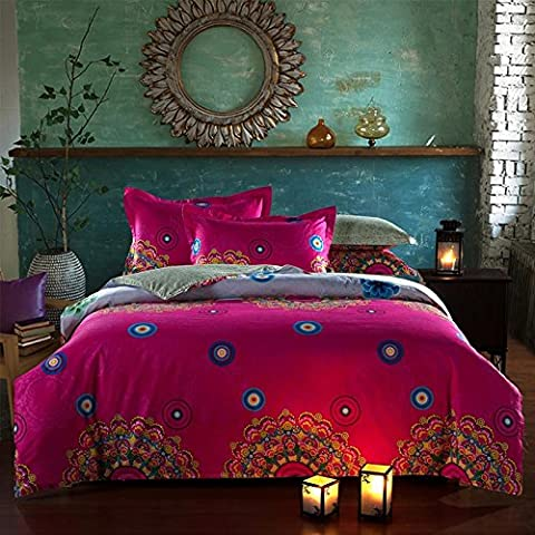 beddingleer 100% algodón ropa de cama moderna conjuntos de estilo Boho fundas de edredón conjuntos de ropa de cama queen king size boho ropa de cama King Size 4piezas, elegante país europeo estilo juego de ropa de