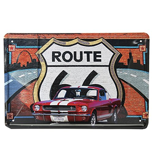 Ruta 66 coches Cartel de chapa de la vendimia del metal de la placa del cartel Bar Inicio decoración de la