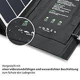 RAVPower 24W Solarladegerät mit 3 USB iSmart-Port (SUNPOWER® Solarzellen, 21,5-23,5% Umwandlungseffizienz, leicht, faltbar, wasserdicht) für Camping Wanderung Bergsteigerei für iPhone 6S, 6S Plus, 6, iPad Pro, Samsung Galaxy S7, S7 Edge, HTC, Motorola usw. - 6