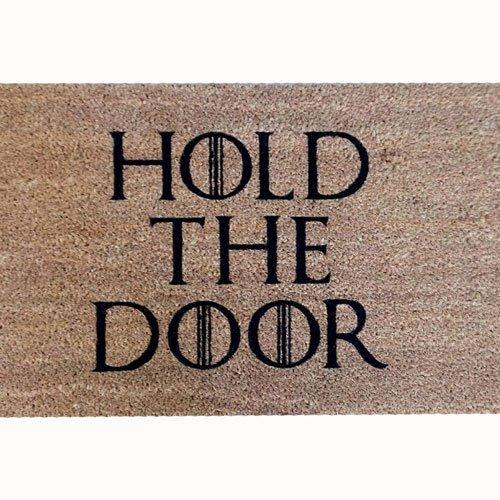 Tatamba Decoración Felpudo Coco Hold The Door Doormat