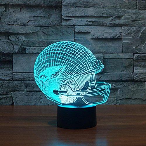 Wmshpeds Rugby Cap Philadelphia Eagles 3D-Lichter Bunte Noten-LED-Leuchten