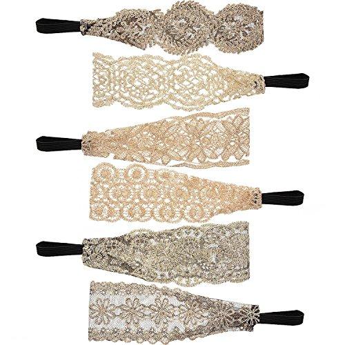 12 Piezas de Diadema Elástica de Mujeres Banda de Pelo Diademas de Encaje  Turbante para Señoritas 146c543306c4