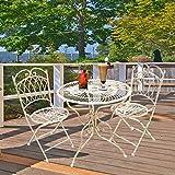 Style home Garten Set Wintergarten Terrasse Bistro Restaurant Esszimmer Tisch und Zwei Stühle Metall SH18G03005-WIE
