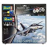 Revell Modellbausatz Flugzeug 1:72 - F-14D Super Tomcat im Maßstab 1:72, Level 3, originalgetreue Nachbildung mit viele