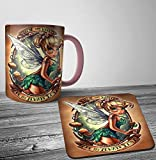 Search : Disney Tinkerbell Punk Tattoo Mug And Coaster Set