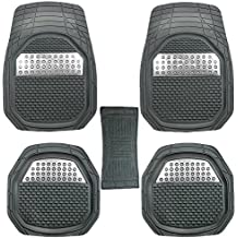 GTC Universal Carpet Car Floor/Foot Mats (Set of 5) (Grey (934-6))