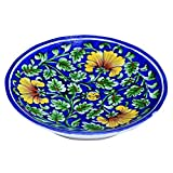 #6: Shriyam Craft Blue Pottery Decorative Plate (6 Inch)