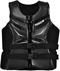 Adults Lifesaving Jacket, Neoprene and PVC Cotton Lightweight Aid Life Vest Buoyancy Jacket for Boating Swimming Drifting