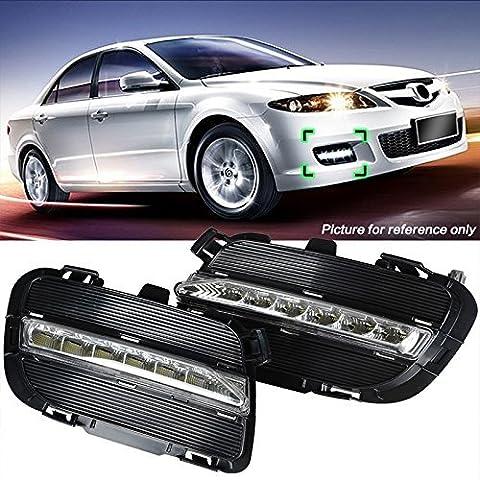 katur12V LED Auto DRL ABS Tagfahrlicht mit Nebelscheinwerfer Loch für