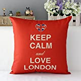 Kissenbezug Kissenhülle Dekokissen Sofa Deko keep calm love London