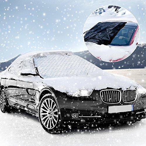 Copertura Parabrezza Auto, KOROSTRO Protezione Parabrezza Antighiaccio Antineve Antigelo Magnetic Robusto Copri Parabrezza Auto Protegge Adatto per la Maggior parte dei veicoli(183*116cm)