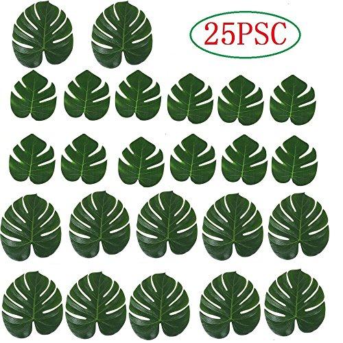 MKISHINE 25 Stück Imitation Palme Blätter Tropische Pflanze Blätter Beach Party Dschungel Strand Thema Party Dekorationen Tischdekoration Künstliche Palme Blätter
