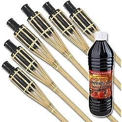 El consumo de-Set: XXL de bambú para antorchas de jardín 120 cm para la iluminación en el jardín, en eventos & Co