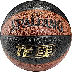 Spalding Ball TF33 In/Out 74-490Z - Pelota de baloncesto ( interior, cuero ) , color naranja, talla 6