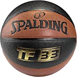 Spalding Ball TF33 In/Out 74-490Z - Pelota de baloncesto (interior, cuero), color naranja, talla 6