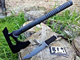 *3er SWAT-Set* großes Multifunktions Downrange Tomahawk M-48 Axt Beil Messer Cutter Camping + Paracord-Messer + 12in1 Survival-Card