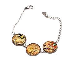 Braccialetto Klimt - Bracciale Arte - Bracciale acciaio