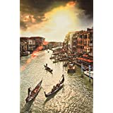 Fabriena Framed Painting For Living Room Large Painting Venice MDF Framed Canvas Painting Premium Canvas Fabric, Realistic Feel Print, 17 Inch X 26 Inch Painting For Bed Room Living Room Hall 005