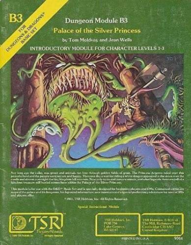 Palace of the Silver Princess (Advanced Dungeons & Dragons) by Tom Moldvay (3-Jun-1905) Paperback