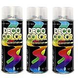 3er Sparpack DC Lackspray glänzend 400ml nach RAL freie Farbauswahl (3 Dosen in klarlack glanz)