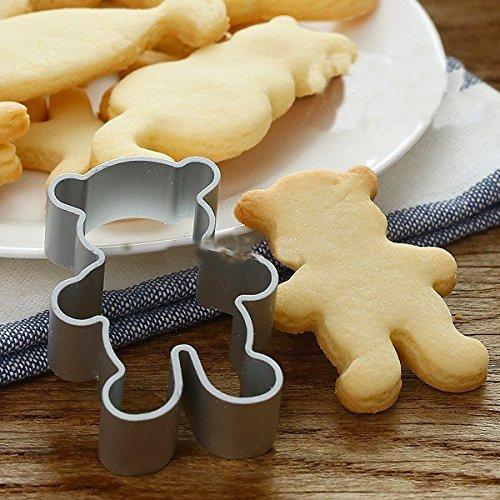 Cutter Ausstechformen (Bazaar Little Bear Aluminum Ausstechform Mold Biskuit Fondant Cutter Kuchen verziert Werkzeug)