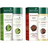 Biotique Bio Morning Nectar Sunscreen Ultra Soothing Face Lotion, SPF 30+, 120ml And Biotique Bio Berberry Hydrating Cleanser