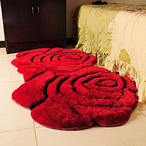 3d-double-rose-tapis-moderne-tea-simple-lit-chevet-tapis-90-160cm-red
