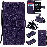 KKEIKO Huawei P9 Case, Huawei P9 Flip Leather Case [with