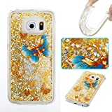 Lomogo Samsung Galaxy S6 Edge/G925 Hülle Silikon, Glitzer Flüssig Schutzhülle Stoßfest Kratzfest Handyhülle Case für Samsung Galaxy S6Edge - YIBO34471#6