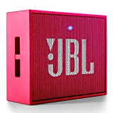 JBL Go - Altavoz portátil para smartphones, tablets y dispositivos MP3 (Bluetooth, recargable, entrada AUX), color rosa