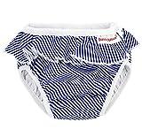 ImseVimse Badewindel Schwimmwindel, White/Blue Stripes Frill Weiss blau gestreift mit Rüschen (SL 13-17kg)