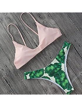 Conjuntos de Bikini Sexy traje de baño Trajes de Baño tendencias de adelgazamiento Split, Rosa Serie L