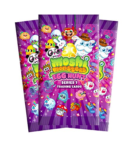 Image of 3 X Moshi Monsters Egg Hunt Trading Cards - 8 cards per pack (Series 1)