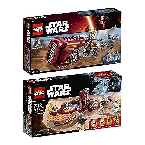 Lego Star Wars Set en 2 parties 75099 75173 Rey's Speeder + Luke's Landspeeder
