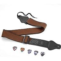 Sangle de Guitare Pour Guitares Basses, électriques et Acoustiques,Courroie de Guitare Confortable et Respirante Avec 3…