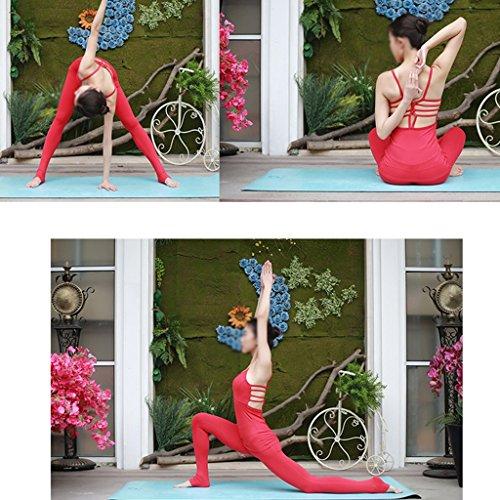 ZCJB Camicetta Yoga Sexy Elasticizzata Ad Asciugatura Rapida Con Pantalone Sul Petto ( Colore : Bianca , dimensioni : M ) Rosso