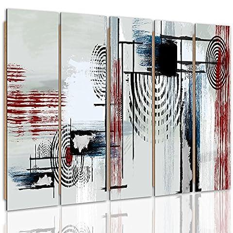 Cadre 160x60 - Feeby Frames, Tableau mural - 5 parties