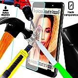 ***A d, irrompible& ® Access-Discount-Protector de pantalla de vidrio templado para HUAWEI honor 7 Filtro protector de pantalla antiarañazos, INVISIBLE& pantalla para Smartphone honor 7, 3 g, 4 g, color gris, blanco, doble sim, color negro