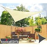 Tenda a Vela Kookaburra per Feste resistente all'acqua - Triangolare 5 mt - Avorio