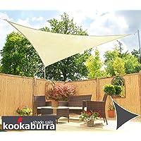 Kookaburra Water Resistant Sun Sail Shade Canopy in Ivory - 3m Triangle  sc 1 st  Amazon UK & Shade Sails: Garden u0026 Outdoors: Amazon.co.uk