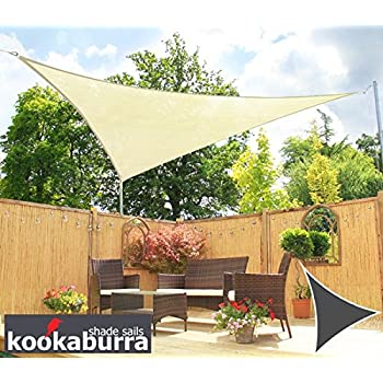 Kookaburra Water Resistant Sun Sail Shade Canopy in Ivory - 3m Triangle  sc 1 st  Amazon UK & Kookaburra Water Resistant Sun Sail Shade Canopy in Ivory - 3m ...