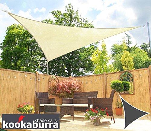 Kookaburra Toldo Vela de Sombra Para Jardín - Resistente al Agua - 3m Triangular Marfil