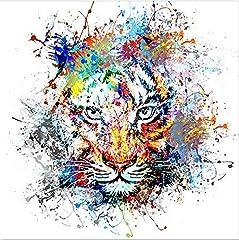 Idea Regalo - Design Twist Color Glass Stampa su Vetro, Multicolore, 60 X 60 cm